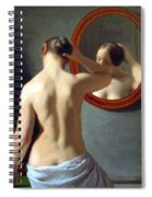 Woman Standing In Front Of A Mirror 1841 Spiral Notebook