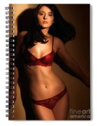 Woman Standing In Light Coming Through A Window Spiral Notebook