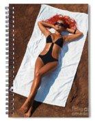 Woman Sunbathing Spiral Notebook