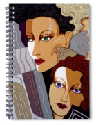 Woman Times Three Spiral Notebook
