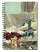 Woman Undressed Spiral Notebook