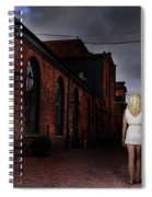 Woman Walking Away With A Child Spiral Notebook