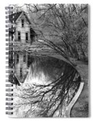 Woman Walking To Old House Spiral Notebook