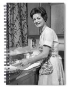 Woman Washing Dishes, C.1960s Spiral Notebook