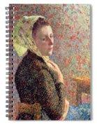 Woman Wearing A Green Headscarf Spiral Notebook