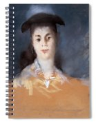Woman Wearing A Hat With Silk Gauze Spiral Notebook