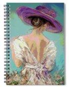 Woman Wearing A Purple Hat Spiral Notebook