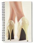 Woman Wearing High Heel Shoes Spiral Notebook