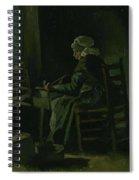 Woman Winding Yarn Nuenen, March 1885 Vincent Van Gogh 1853 - 1890 Spiral Notebook