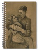 Woman With A Child On Her Lap The Hague, March 1883 Vincent Van Gogh 1853 - 1890 Spiral Notebook