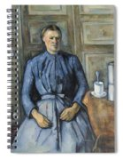 Woman With A Coffeepot  Spiral Notebook