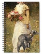 Woman With A Dog Spiral Notebook