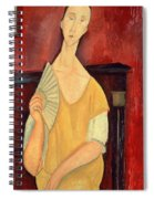Woman With A Fan Spiral Notebook