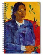 Woman With A Flower 1891 Spiral Notebook