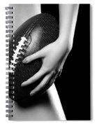 Woman With A Football Spiral Notebook