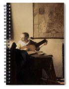 Woman With A Lute Spiral Notebook