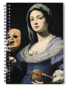 Woman With A Mask Spiral Notebook