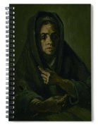 Woman With A Mourning Shawl Nuenen, March - May 1885 Vincent Van Gogh 1853 - 1890 Spiral Notebook