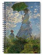 Woman With A Parasol, Madame Monet And Her Son, Claude Monet Digitally Enhanced Spiral Notebook