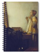 Woman With A Pearl Necklace Spiral Notebook