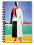 Woman With A Rake Spiral Notebook