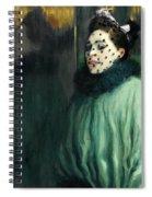Woman With A Veil Spiral Notebook