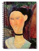 Woman With A Velvet Neckband Spiral Notebook
