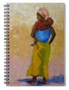 Woman With Baby Spiral Notebook