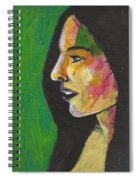 Woman With Black Lipstick Spiral Notebook