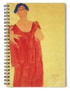 Woman With Blue Hair Spiral Notebook
