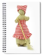 Woman With Broom In Her Hands Spiral Notebook