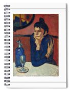 Woman With Coffee Femme Au Cafe Spiral Notebook