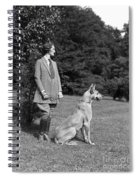Woman With Great Dane, C.1920-30s Spiral Notebook