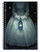 Woman With Lantern Spiral Notebook