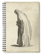 Woman With Long Veil Spiral Notebook