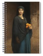 Woman With Oranges Spiral Notebook