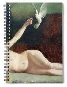 Woman With Pigeons Spiral Notebook