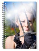 Woman With Pitchfork Spiral Notebook