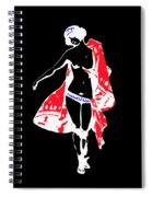 Woman With Red Cape - And Not Much Else Spiral Notebook