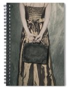 Woman With Suitcase Spiral Notebook