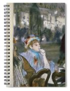 Women On A Cafe Terrace Spiral Notebook