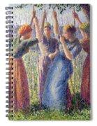 Women Planting Peasticks Spiral Notebook