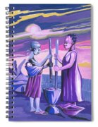 Women Pounding Cassava Spiral Notebook