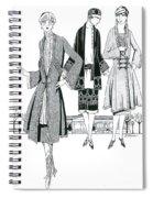 Womens Fashion, 1926 Spiral Notebook