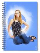Womens Fashion Pinup Model On Blue Studio Lights Spiral Notebook
