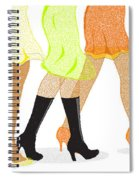 Womens Leg Dots Spiral Notebook