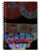 Wonderful And Spectacular Christmas Lighting Decoration In Madrid, Spain Spiral Notebook