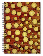 Wood And Gold Spiral Notebook
