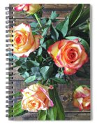 Wood And Roses Spiral Notebook