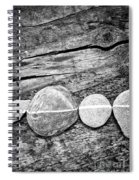 Wood And Stones - Vertical Spiral Notebook